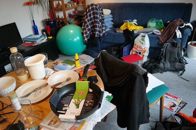Nepořádek v bytě